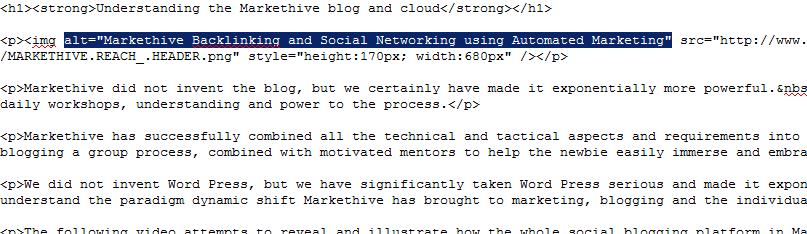 Alt tags html code